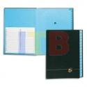 trieur alphabétique 25 compartiments, couverture rigide plastifiée en pvc